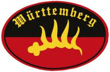 PVC-Aufkleber- Sticker Wappen oval - Württemberg - 301598-3 - Gr. ca. 8 x 5cm