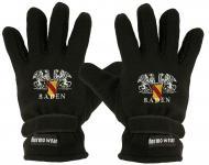 """(40385-56550) Fleece Handschuhe mit Einstickung """" BADEN"""""""