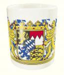 Tasse mit Print Freistaat Bayern Wappen weiß 57015