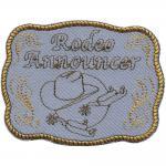 "AUFNÄHER "" RODEO WESTERN COWBOY"" NEU Gr. ca. 9cm x 7cm (00010) Patches Stick Applikation"