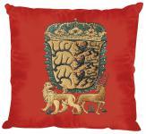 Kissen mit Einstickung - Königreich Württemberg - Gr. ca. 40 x 40 cm - 11375 rot