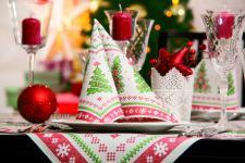 Serviette 20x - Motiv Tannenbaum - Gr. 40cm x 40cm - Weihnachten - 33941