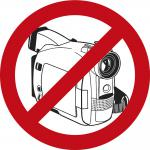 PVC-Aufkleber - Fotografieren und Filmen verboten - Gr. ca. 9 cm - 307398