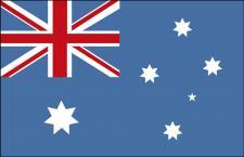 Länderflagge Stockländerfahne - Australien - Gr. ca. 30x40cm - Schwenkfahne