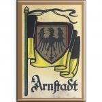 Küchenmagnet - Wappen Arnstadt - Gr. ca. 8 x 5, 5 cm - 37505 - Magnet Kühlschrankmagnet
