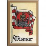 Kühlschrankmagnet - Wappen Wismar - Gr. ca. 8 x 5, 5 cm - 37553 - Magnet Küchenmagnet