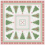 3 TISCHDECKEN TISSUE mit Motiv - TANNENBAUM - Gr. 80cm x 80m (29651) Weihnachten Tischdeko