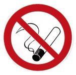 PVC- Aufkleber - Rauchen Verboten - in 6 Größen - 302001-1 - Gr. ca. 4 cm