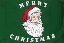Hissflagge mit Motiv - Weihnachtsmann - Gr. 150cm x 90cm - 24336 - Dekoflagge Christmas
