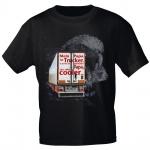 Kinder T-Shirt mit Print - Mein Papa ist Trucker...cooler - 12262 anthrazitgrau Gr. 110/116