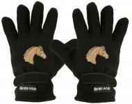 "(40385-56533) Fleece Handschuhe mit Einstickung "" PFERD"""