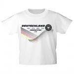 Kinder T-Shirt mit Print Deutschland 4 Sterne Competitor 2018 - 77535 Gr. weiß / 110/116