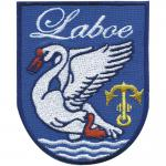 AUFNÄHER - Wappen - Laboe - 00013 - Gr. ca. 7 x 8, 5 cm - Patches Stick Applikation
