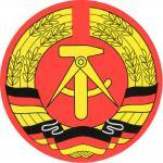 Aufkleber - DDR Wappen - 301059/1 - Gr. ca. 8 cm