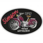 Auto-Aufkleber - SIMSON SR2 - 303394 -1 - Gr. ca. 10x6, 5cm