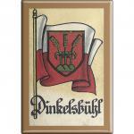 Küchenmagnet - Wappen Dinkelsbühl - Gr. ca. 8 x 5, 5 cm - 37515 - Magnet Kühlschrankmagnet