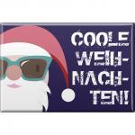 Kühlschrankmagnet - Weihnachten - Coole Weihnachten - Gr. ca. 8 x 5, 5 cm - 38235 - Magnet Küchenmagnet
