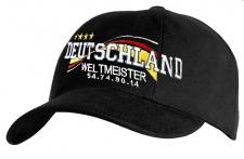 Baseballcap mit Einstickung - DEUTSCHLAND WELTMEISTER 2014 - 68172 schwarz