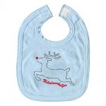 Baby-Lätzchen mit Print Elch Nikolaushelfer 12440 hellblau