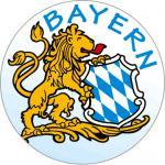 PVC - Aufkleber - Bayern - 303947 - Gr. ca. 2, 1 cm Durchmesser