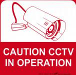 Hinweisschild - Warnschild - Kamera - CAUTION CCTV IN OPERATION - Gr. 21 x 21 cm - 308817-1