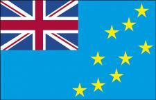 Länder-Flagge - Tuvalu - Gr. ca. 40x30cm - 77175 - Flagge, Dekofahne, Stockländerfahne