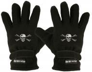 """(40385-56490) Fleece Handschuhe mit Einstickung """" TOTENKOPF"""""""