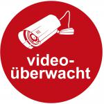 Hinweisschild - videoüberwacht - Gr. ca. 20 x 20 cm - 308809/1