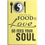 KÜCHENMAGNET - Food is Love ... - Gr. ca. 8 x 5, 5 cm - 38914 - Magnet