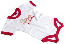 Babystrampler mit Print - Opas Liebling - 08304 weiß-rot - 0-24 Monate