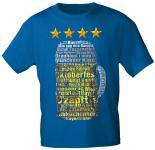 T-Shirt mit Print - Oktoberfest - Maßkrug - 09051 blau - Gr. S