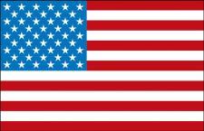 Länder-Fahne - USA - Gr. ca. 40x30cm - 77180 - Flagge, Dekofahne, Stockländerfahne