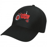 Kinder Baseballcap mit Einstickung - roter Bulldog Traktor - 69110 schwarz