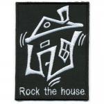 Aufnäher - Rock the House - 06081 - Gr. ca. 7 x 9 cm - Patches Stick Applikation