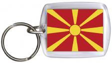 Schlüsselanhänger Anhänger - MAZEDONIEN - Gr. ca. 4x5cm - 81106 - Keyholder WM Länder