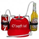 """Schutzhelm/Spass Trinkhelm in 3 Farben """" o´zapft is"""" aus Kunststoff größenverstellbar 51661"""
