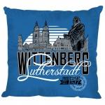 Dekokissen Kissen - Martin Luther - Wittenberg Lutherstadt - 11664 blau - Gr. ca. 40 x 40 cm