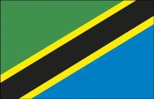 Länderflagge - Tansania - Gr. ca. 40x30cm - 77166 - Schwenkfahne mit Holzstock, Flagge, Dekofahne