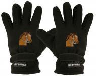 "(40385-56534) Fleece Handschuhe mit Einstickung "" PFERD"""