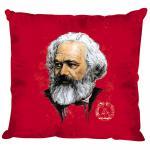 Kissen mit Print - Karl Marx - Gr. ca. 40 x 40 cm - 09218 - rot