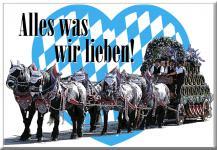 Magnet - Alles was wir lieben - Oktoberfest München - Gr. ca. 8 x 5, 5 cm - 38153 - Küchenmagnet