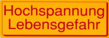 Warnschild - HOCHSPANNUNG - 308500 - Gr. 25 x 9 cm