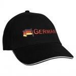 Baseballcap mit Einstickung Fahne Flagge Germany Deutschland 68130 schwarz