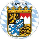 PVC - Aufkleber - Bayern - 303948 - Gr. ca. 2, 1 cm Durchmesser