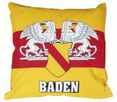 Dekokissen Kissen - BADEN - 09146 gelb - Gr. ca. 40 x 40 cm