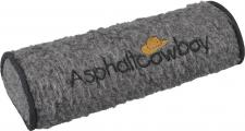 Nackenrolle mit Einstickung - Asphaltcowboy - Gr. ca. 42 x 16, 5 x 9, 5 cm - 30061 grau