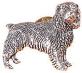 Anstecknadel - Metall - Pin - Cocker Spaniel - Hund - Größe ca 35 x 30 mm - 02611