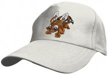 Kinder Baseballcap mit Einstickung - Biene Bee Bienchen - 69123 weiss