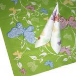 (29658) 3 TISCHDECKEN TISSUE mit Motiv ? Schmetterling ? NEU Gr. 80cm x 80m Tischdeko