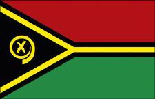 Länder-Fahne - Vanuatu - Gr. ca. 40x30cm - 77182 - Flagge, Fahne, Stockländerfahne